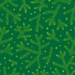 Stock Vector: Seamless pattern with fir branches.