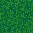 Seamless pattern with fir branches.  — Stock Vector