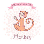 Chinese Zodiac - Monkey — Stock Vector