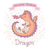 Chinese Zodiac - Dragon — Stock vektor