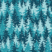 Heavy snow in the pine forest. — Stock vektor