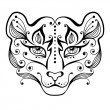 Tiger tattoo. — Stock Vector