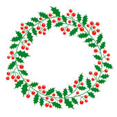 Christmas wreath with place for your text — Vettoriale Stock