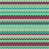 Illustration seamless knitted pattern. — ストックベクタ
