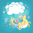 Unicorn rainbow in the clouds — Stock Vector #36855931