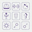 Sketches simple medical icons set — Stock Vector