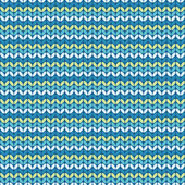 Illustration seamless knitted pattern. — Stock Vector