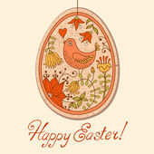 Vintage card with Easter egg — Stock Vector