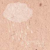 Decorative cloud with rain. — ストックベクタ