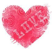 Sevgililer günü kalpleri ile klasik kart. — Stok Vektör