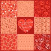 Seamless patterns Valentine's Day — Vetor de Stock