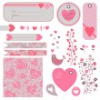 Valentine's Day set of design elements — Stock Vector #40121085