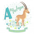 Letter A - Antelope — Stock Vector #40332151
