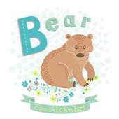 Lettre b - ours — Vecteur