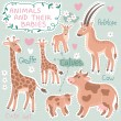 Baby and Mommy Animal Set — Stock Vector #40575597