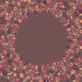Krásný rám kvetoucích větví — Stock vektor