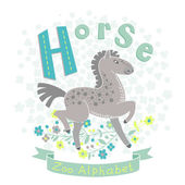 Letter H - Horse — Stock Vector