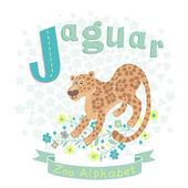 Letter J - Jaguar — Stockvektor