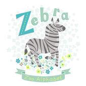 Letter Z - Zebra — Stockvektor