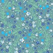 Flowering bluebells — Stock Vector