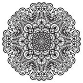 Flower Mandala. Abstract element for design — Vector de stock