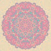 Flower Mandala. Abstract element for design — Cтоковый вектор
