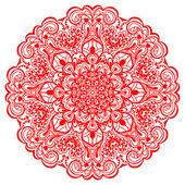 Flower Mandala. Abstract element for design — Stock Vector