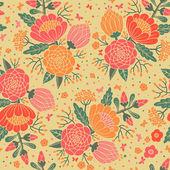 Patrones vintage sin fisuras con flores decorativas. — Vector de stock