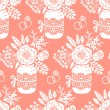 Vintage seamless pattern with a bouquet of flowers — Vecteur