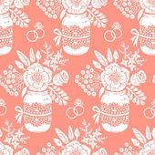 Vintage padrão sem emenda com um buquê de flores — Vetorial Stock