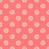 Seamless pattern with polka dots (abstract roses) — Vecteur