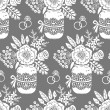 Vintage seamless pattern with a bouquet of flowers — ストックベクタ #44745903