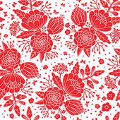 无缝复古图案与装饰花. — 图库矢量图片