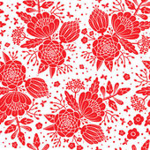 Seamless vintage pattern with decorative flowers. — Stock Vector