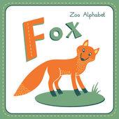 Letter F - Fox — Stockvector