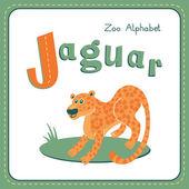 Letter J - Jaguar — Stockvector