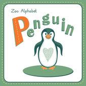 Letter P - Penguin — Stockvector