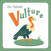 Letter V - Vulture — Stock Vector