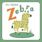 Letter Z - Zebra — Stockvector