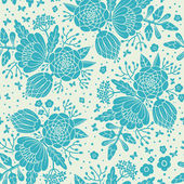 Seamless vintage pattern with decorative flowers. — Stock vektor