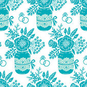 Vintage seamless pattern with a bouquet of flowers — Stock Vector