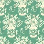 Винтаж бесшовный паттерн с букетом цветов — Cтоковый вектор #45613783