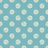 Seamless pattern with polka dots (abstract roses) — Stock Vector