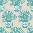 Vintage seamless pattern with a bouquet of flowers — ストックベクタ #45950215