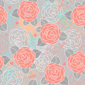Seamless pattern with roses. — Vector de stock