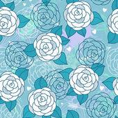 Nahtlose muster mit rosen. — Stockvektor