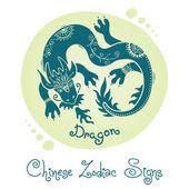 Dragon. Chinese Zodiac Sign — Stock Vector