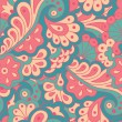 Seamless pattern with abstract flowers. — Stock Vector #48650055