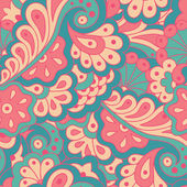 Seamless pattern with abstract flowers. — Stock Vector