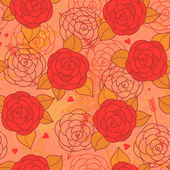 Seamless pattern with roses. — 图库矢量图片